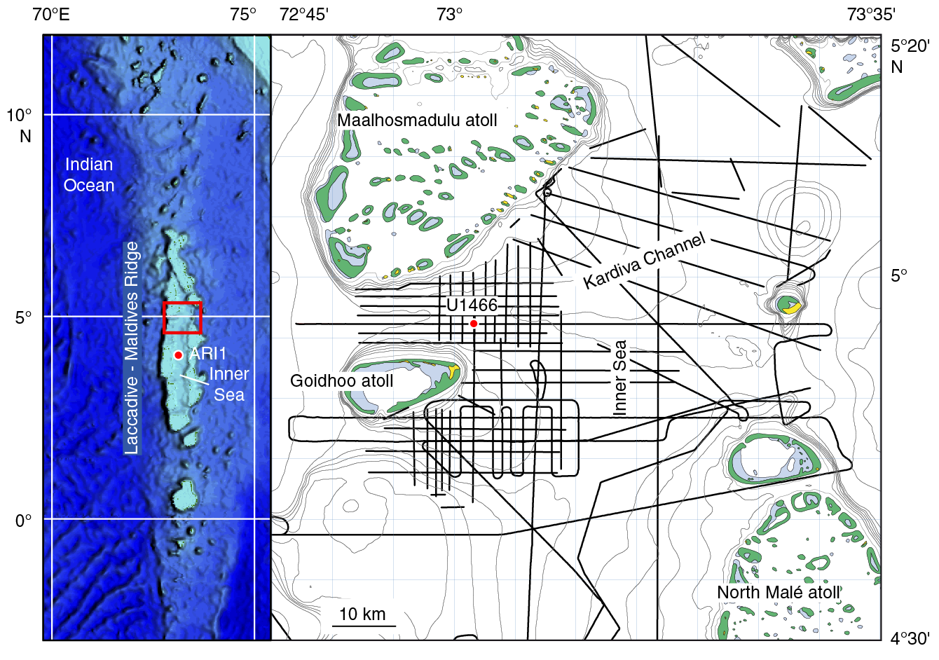 Iodp Publications Volume 359 Expedition Reports Site U1466 Rotary Fan Switch Wiring Diagram Likewise On 3 Sd Figure F1 Map Of Located In The Kardiva Channel 1880 M East U1465