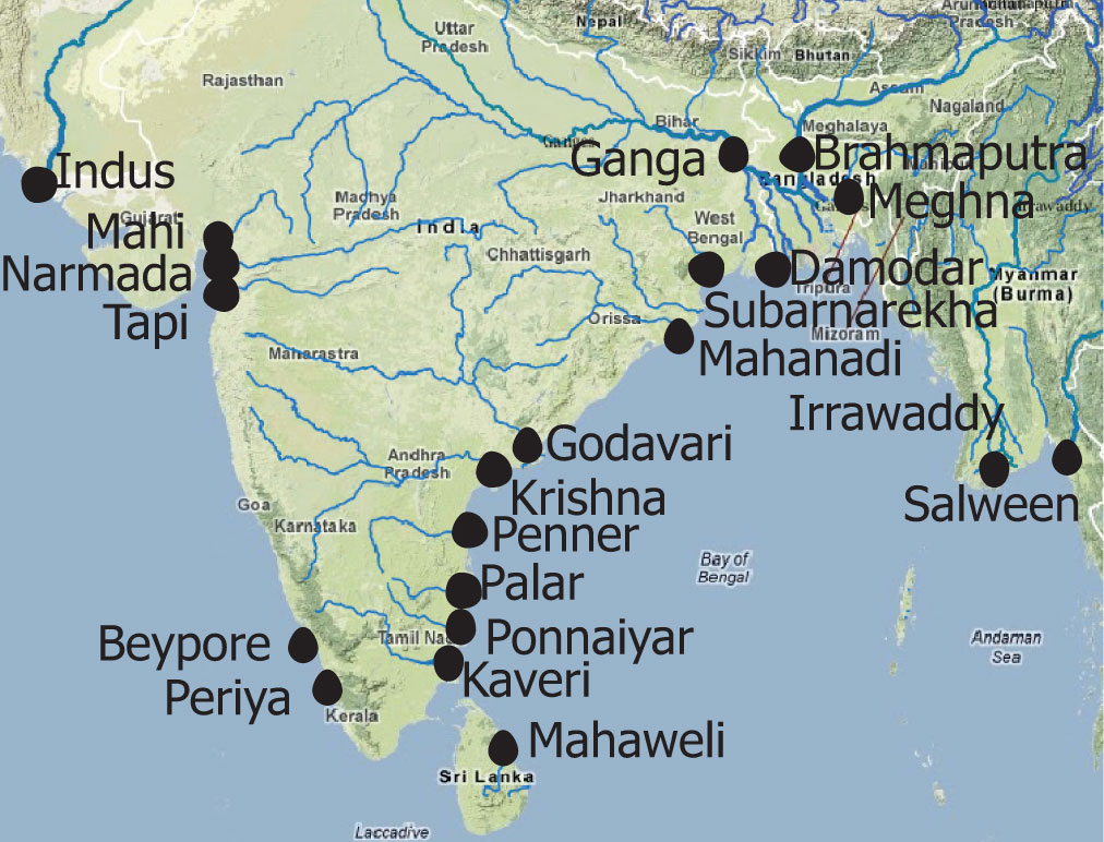 famous rivers in india